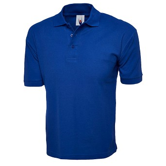 Cotton Rich Coloured Poloshirt with Embroidery